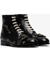 0c47f5152ac Gucci - Queercore Embroidered Brogue Boot - Lyst
