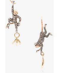 Bibi Van Der Velden - 18k Rose Gold Monkey And Banana Earrings - Lyst