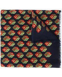 Gucci - Wallpaper Gg Print Cube Scarf - Lyst