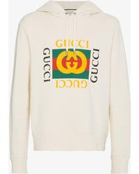 Gucci - Gg Fake Hooded Sweatshirt - Lyst