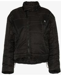 GmbH - X Browns Harris High Neck Embroidered Puffer Jacket - Lyst