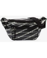 Balenciaga - Black Explorer Logo Leather Belt Bag - Lyst