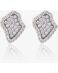 Kimberly Mcdonald - Diamond Encrusted Stud Earrings - Lyst