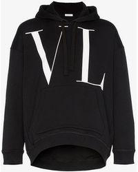 Valentino - Vltn Logo Printed Hoodie - Lyst