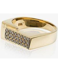 Lizzie Mandler - Pave Diamond Overlap Pinky Ring - Lyst