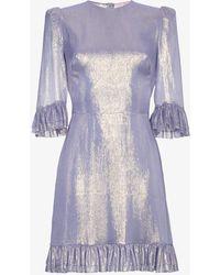 The Vampire's Wife - Lilac Metallic Chiffon Mini Festival Dress - Lyst