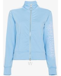 Off-White c/o Virgil Abloh - Blue Zip Front Sports Jacket - Lyst