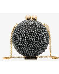 Marzook - Black Swarovski Crystal Sphere Clutch - Lyst