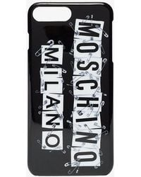 Moschino - Black And White Iphone Plus Case - Lyst