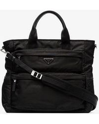 Prada - Black Multi Pocket Tote Bag - Lyst