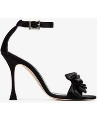 Manolo Blahnik - Black Vinkaos 105 Satin Sandals - Lyst