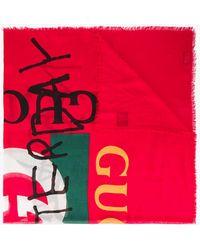 Gucci - Coco Capitán Logo Silk Shawl - Lyst
