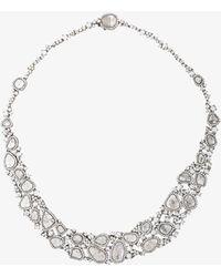 Saqqara - 18kt White Gold And Diamond Necklace - Lyst