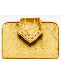 Mehry Mu - Yellow Fey Mini Velvet Clutch - Lyst