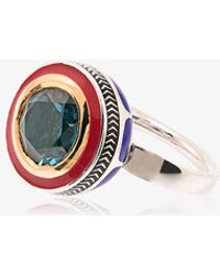 14k Yellow Gold Candy Kimono Violet Blue Sapphire Ring Alice Cicolini i1awajYh
