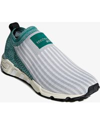 adidas - Grey And Green Og Story Sock Trainers - Lyst