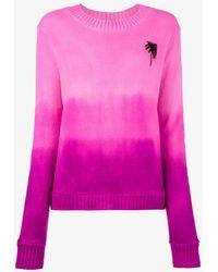The Elder Statesman - Palm Tree-intarsia Cashmere Sweater - Lyst