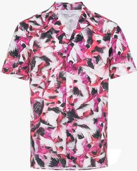 Orlebar Brown - Travis Birds Of Paradise Print Cotton Linen-blend Shirt -  Lyst