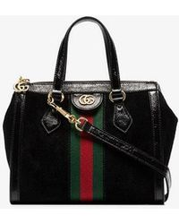 b8b0738b77a Gucci Nymphaea Leather Mini Bag in Black - Lyst