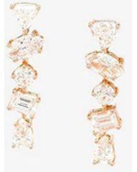 Kimberly Mcdonald - Ladies Pink And Purple 18k Rose Gold Diamond Studded Earrings - Lyst