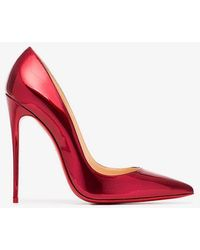 Christian Louboutin - Metallic Red So Kate 120 Patent Leather Pumps - Lyst