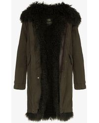 Mr & Mrs Italy - Shearling Lined Hooded Cotton Parka - Lyst