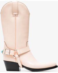 CALVIN KLEIN 205W39NYC - Powder Tex Tammy 50 Leather Boots - Lyst