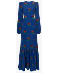 The Vampire's Wife - Belle Floral Crepe Maxi Dress - Lyst