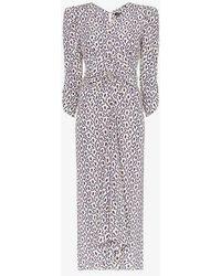 Isabel Marant - Albi Abstract Print Stretch-silk Midi Dress - Lyst