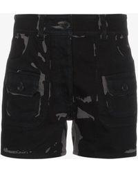 Prada - Bicolour High Waisted Shorts - Lyst