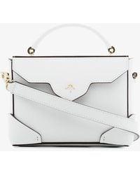 MANU Atelier - White Micro Bold Leather Cross-body Bag - Lyst