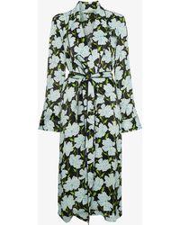 Off-White c/o Virgil Abloh - Floral Belted Robe Jacket - Lyst