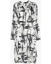 Balenciaga - Twisted Print Midi Dress - Lyst