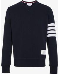 Thom Browne - Pullover Sweatshirt With Engineered 4-bar Stripe - Lyst