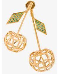 Natasha Zinko Cherries Earrings - Metallic