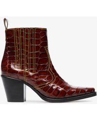 Ganni - Rosette 75 Cowboy Boots - Lyst