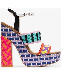 85403db2dc6 Sophia Webster - Celia 140 Woven-leather Platform Sandals - Lyst