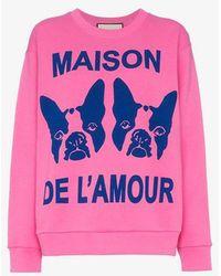 Gucci - Maison De L'amour Sweatshirt With Bosco And Orso - Lyst