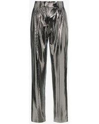 Filles A Papa - Clint Mid-rise Metallic Trousers - Lyst