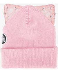 Silver Spoon Attire - Bad Kitty Embellished Beanie With Cat Ears - Lyst