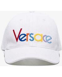 1fa54b965a3 Versace - Embroidered Rainbow Logo Cotton Baseball Cap - Lyst