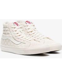 837508fd1e Vans - Beige Sk8-hi Lx Checkerboard Leather And Canvas High-top Trainers -