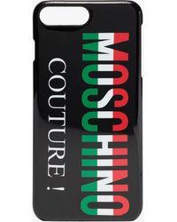 Moschino - Black Italian Logo Iphone 8 Plus Case - Lyst