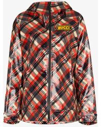 Gucci - Logo Tartan Coated Cotton Windbreaker - Lyst