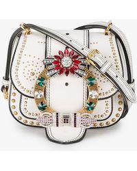 Miu Miu | Small Dalia Stud Embellished Bag | Lyst