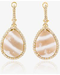 Kimberly Mcdonald - Diamond And Stone Drop Earrings - Lyst