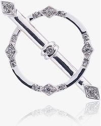 Yvonne Léon - 18k White Gold And Diamond Circle Earring - Lyst