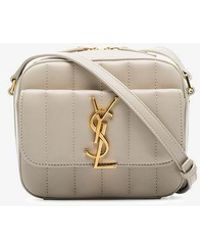 d20061d06a Saint Laurent - Vicky Toy Monogram Ysl Patent Crossbody Camera Bag - Lyst