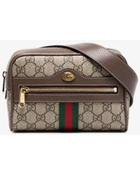 2bf1ad319ca Gucci - Brown Ophidia GG Supreme Small Belt Bag - Lyst