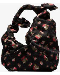 Simone Rocha - Double Bow Floral Jacquard Shoulder Bag - Lyst